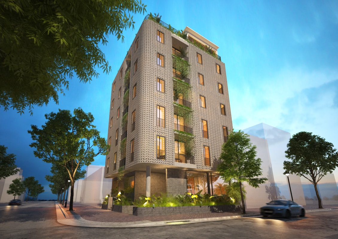 Green Residential Building In Danang T3 Architecture