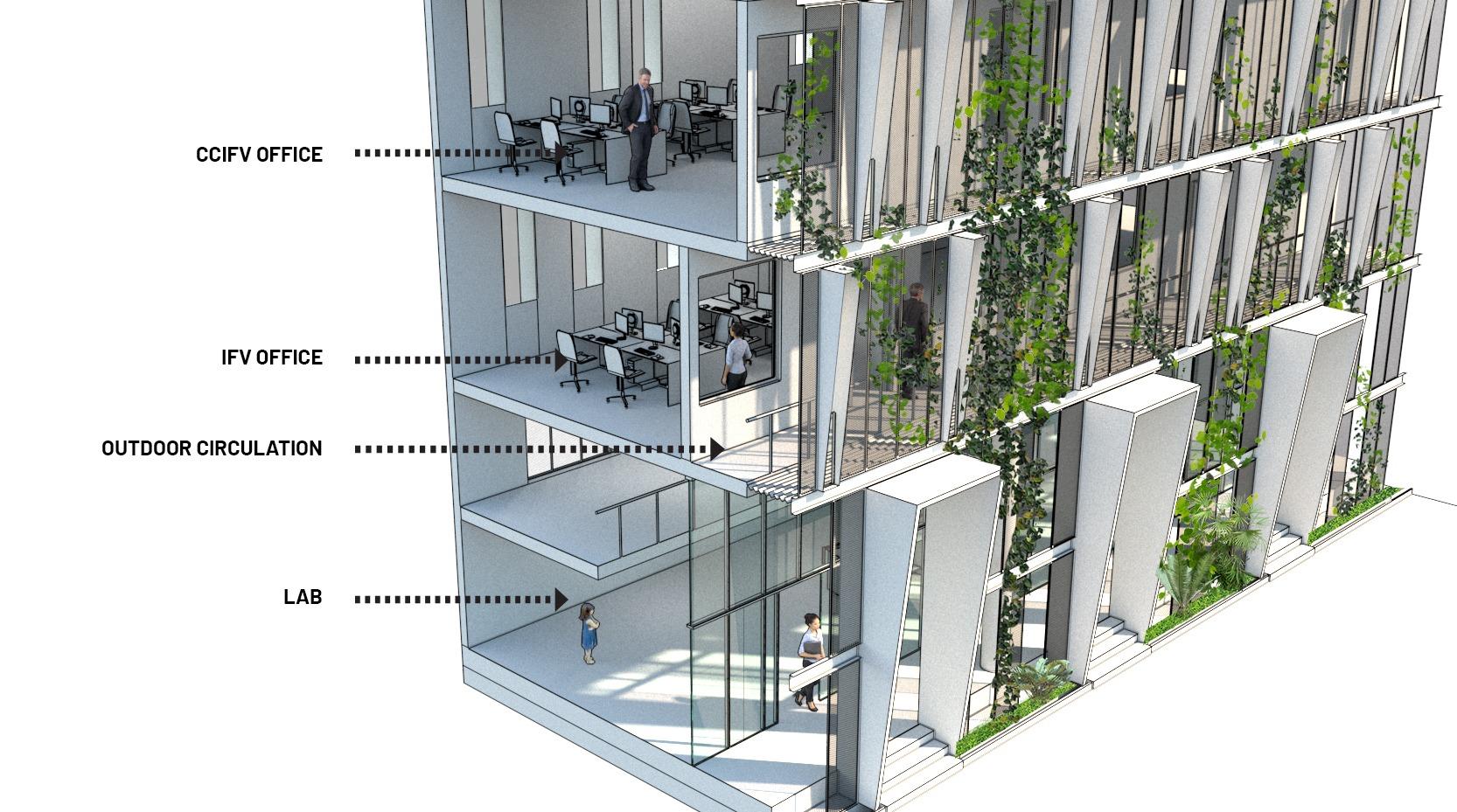 green facade design vietnam